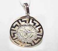 Медальон Версаче серебряный