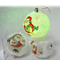 Набір ялинкових іграшок Дід Мороз з підсвічуванням