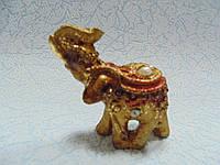 Статуэтка слон с камнями керамическая размер 5.5*5.5*2 см, фото 1