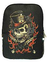 Джинсовый рюкзак Череп 4, фото 1
