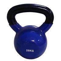 Цветная виниловая гиря 28 кг Rising для дома и спортзала
