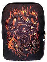 Джинсовый рюкзак Череп Джокер, фото 1
