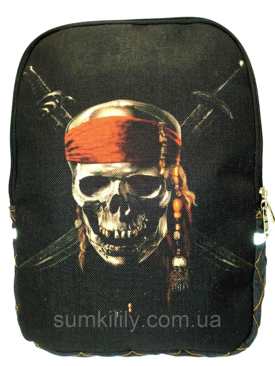 Джинсовый рюкзак Пират