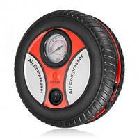 Портативный автомобильный воздушный компрессор - колесо