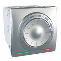 Термостат для теплого пола с датчиком температуры, алюминий - Schneider Electric Unica (Код: MGU3.503.30)