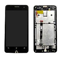 Дисплей + сенсор (модуль) Asus Zenfone 5  (A500CG/A500KL/A501CG)  t00j черный + рамка