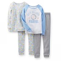 Комплект детских пижам для девочки Carters Цветочки