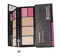 Палетка для макияжа МАС Viva Glam (2 пудры + 2 румян) - 01