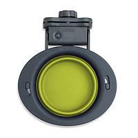 Dexas Kennel Bowl 240 мл - миска складная с креплением к клетке для собак и кошек (зеленый)