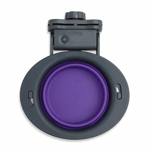 Dexas Kennel Bowl 240 мл - миска складная с креплением к клетке для собак и кошек (фиолетовый)