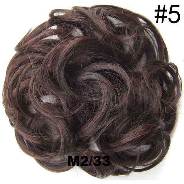 Резинка из синтетических волос русый