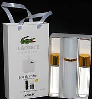 Lacoste Eau De L.12.12 Blanc (Лакост Бланк) Набор духов (3 шт по 15 ml) - 87m - реплика