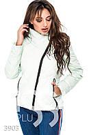 Ledi M Женская куртка с высоким воротом IS 3903 мятный Леди М