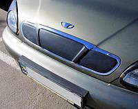Зимняя накладка на решётку радиатора Daewoo Lanos