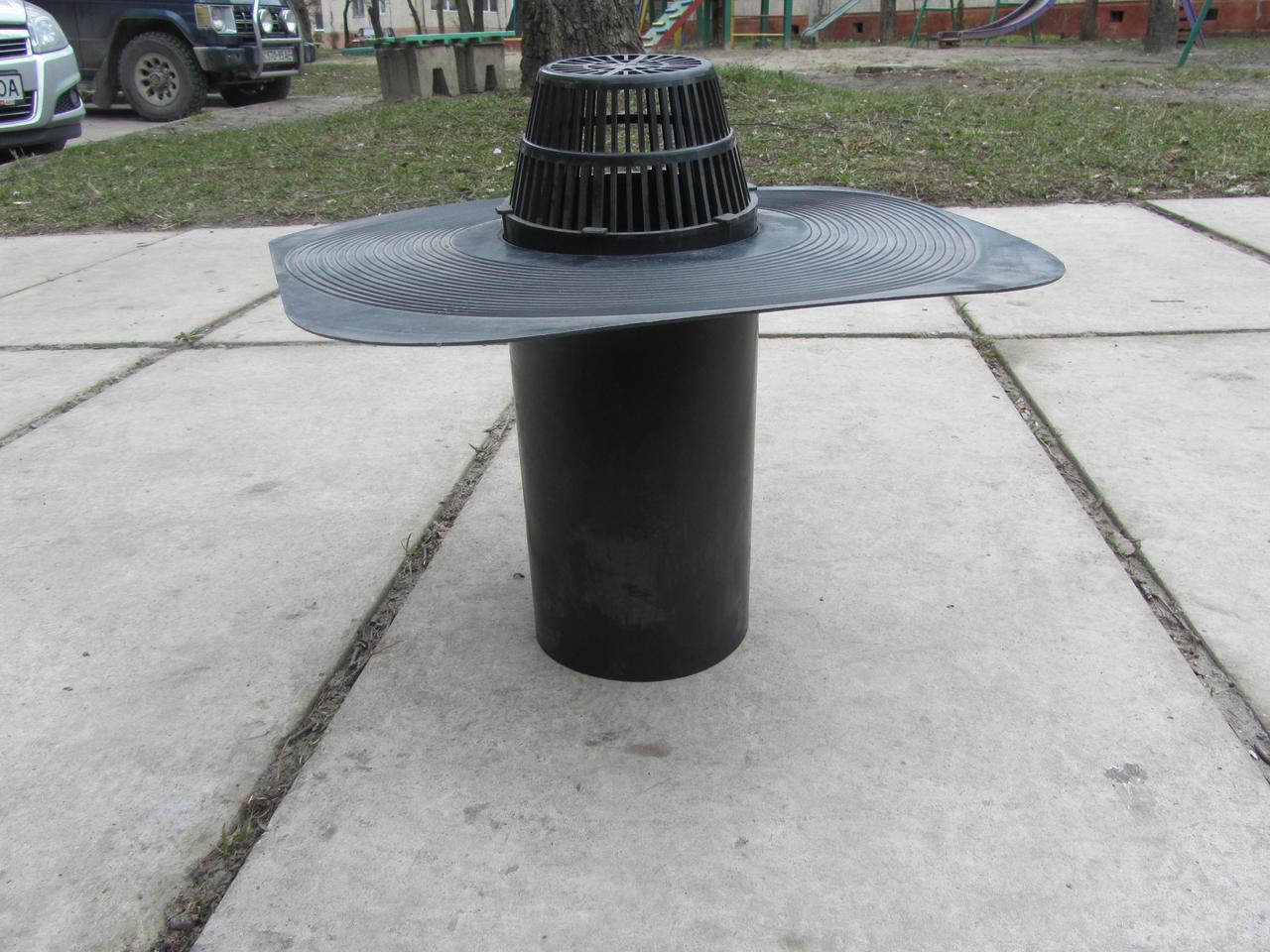 Воронка водоприемная 100мм (колпак) под плоскую крышу
