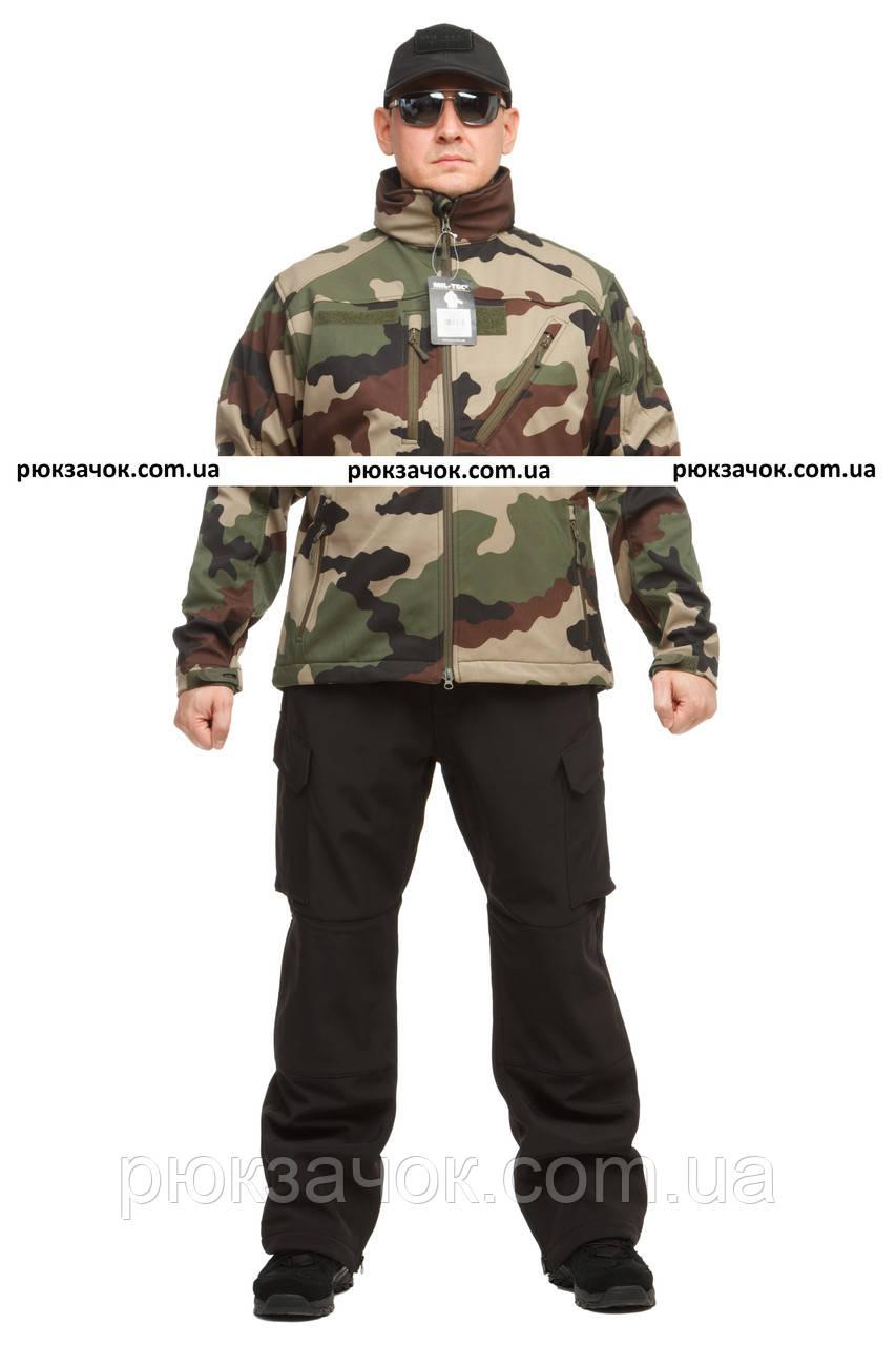 """Куртка тактическая, непромокаемая Mil-tec Softshell """"Camo"""" р """"S"""""""