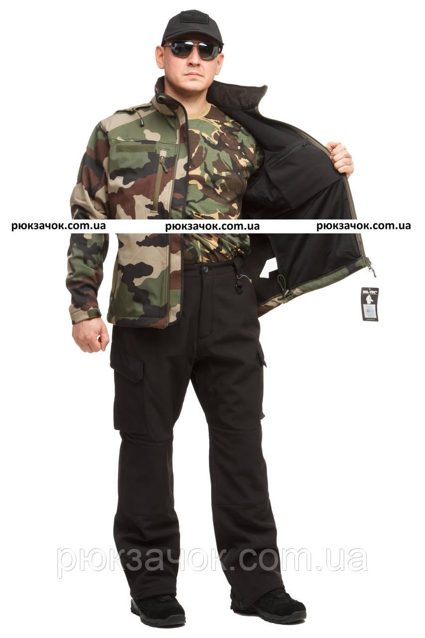 """Куртка тактическая,универсальная Mil-tec Softshell """"Camo"""" р """"XXL"""""""