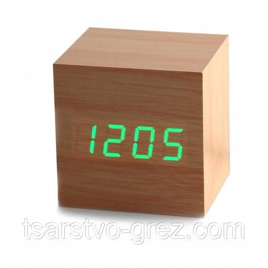 Часы будильник дерево wood clock