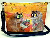 Джинсовая сумочка Букет, фото 1