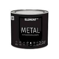 """Антикоррозийная краска METAL """"ELEMENT PRO"""" 0.7 кг черный"""