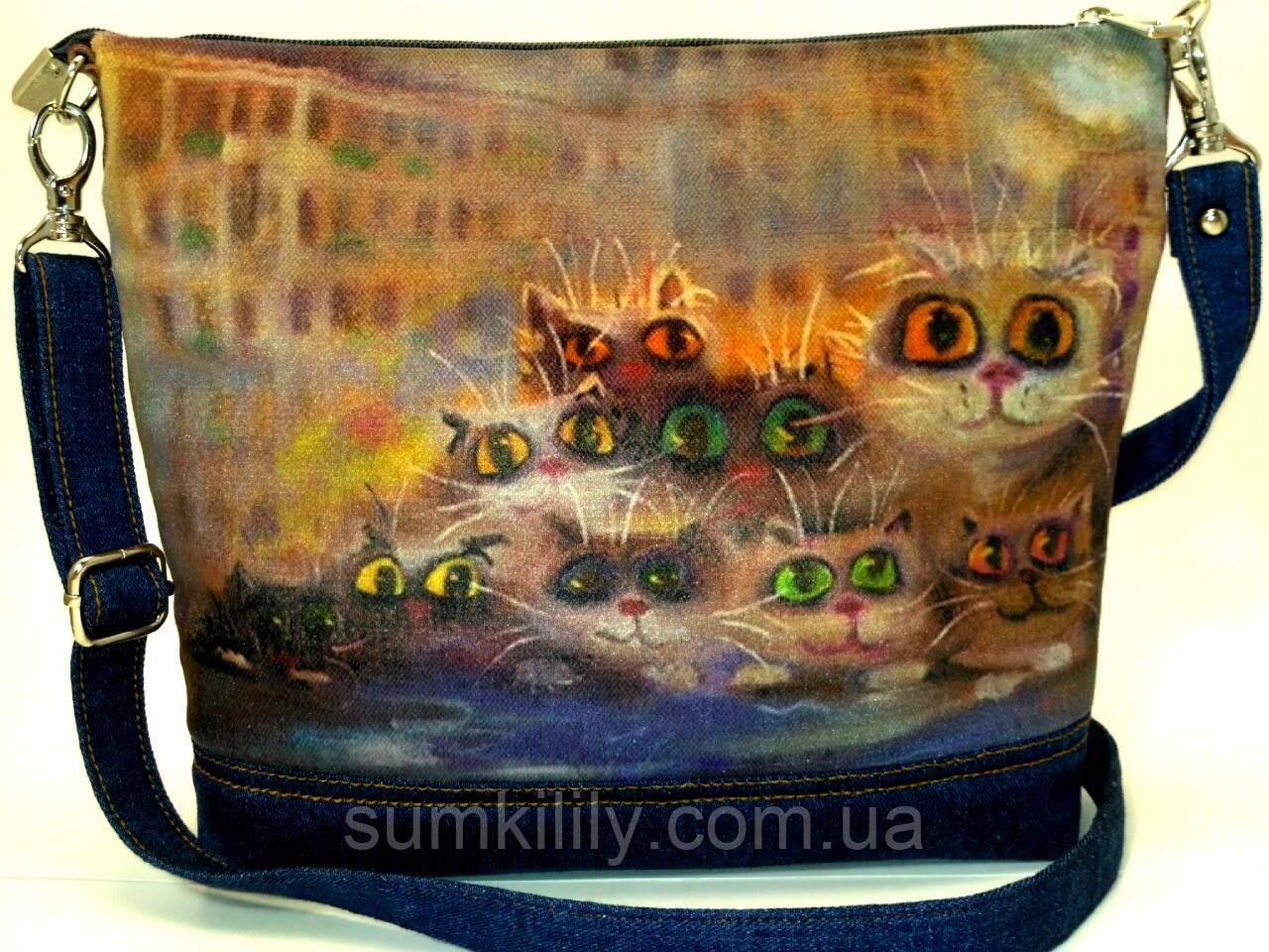 Джинсовая сумочка Глазастики
