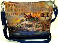 Джинсовая сумочка Глазастики, фото 1