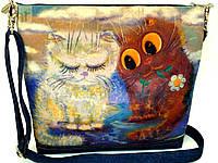 Джинсовая сумочка На свидании, фото 1