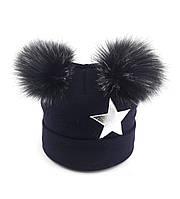 Теплая ангоровая шапка детская 50-54р оптом