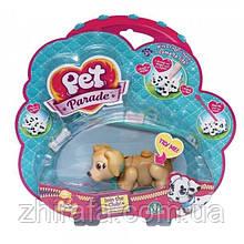 Игрушка Pet Parade Фигурка собачки в комплекте с косточкой и поводком