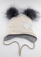 Теплая ангоровая шапка детская 48-52р оптом