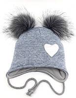 Теплая ангоровая шапка детская 48-52р
