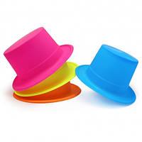 Шляпа Цилиндр Флок цветная