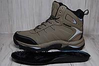 Высокие зимние непромокаемые кроссовки натуральный нубук BONA 44 размер