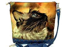 Женская сумочка Сиам акварель, фото 1