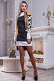 Стильне асиметричне чорно-біле плаття