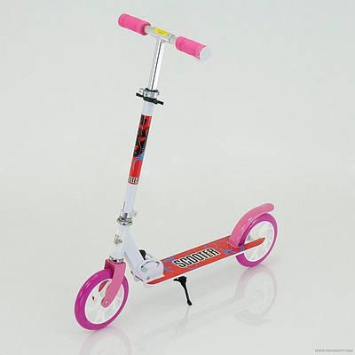 Детский самокат SCOOTER SPORT 109  Белый/Розовый