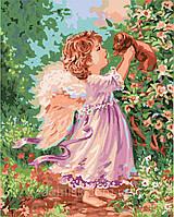 Картина по номерам Роспись на холсте Ангел с песиком KH2314 без коробки