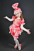 Карнавальный костюм Кукла Конфетка Хлопушка для девочки. Детский новогодний маскарадный костюм (розовый)