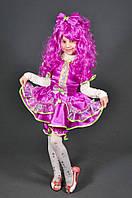 Карнавальный костюм Кукла Конфетка Хлопушка для девочки. Детский новогодний маскарадный костюм (сирень)