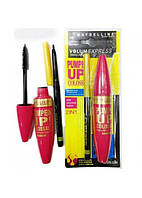 Тушь + карандаш Maybelline Pumpe UP Colossal