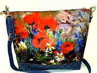 Джинсовая сумочка Маки с ромашками