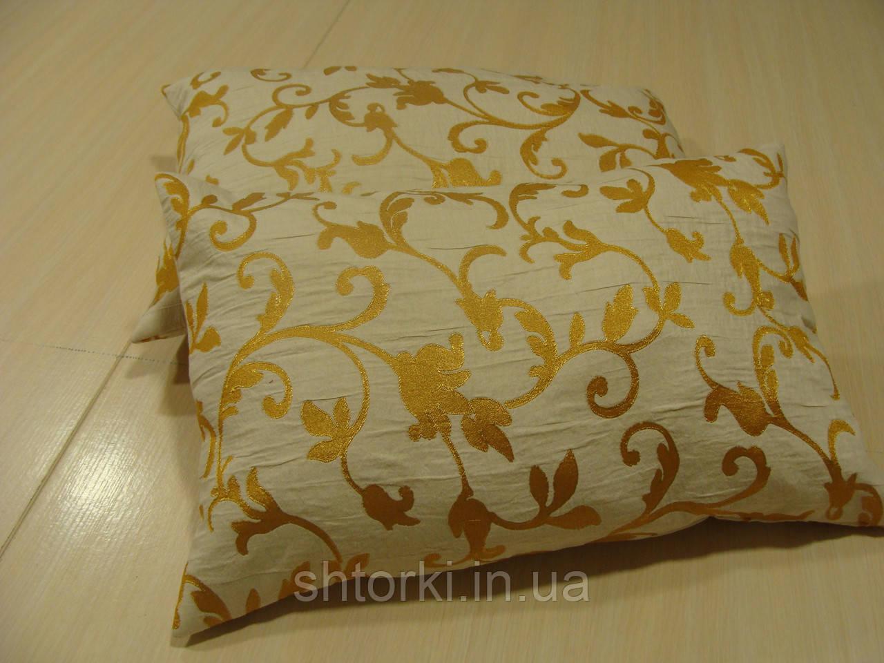 Комплект подушек  2шт золотой вензель 35х55см