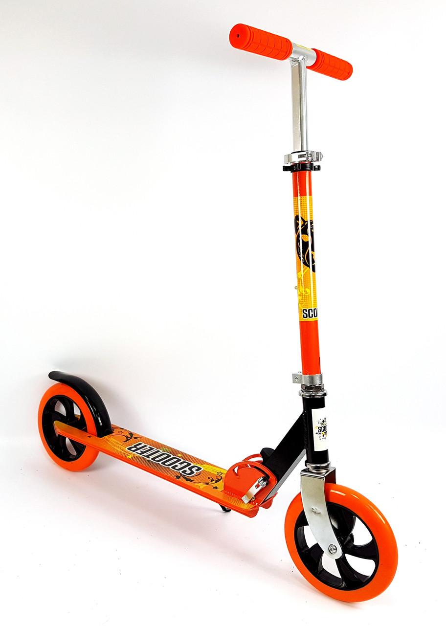 Детский самокат SCOOTER SPORT 460 Оранжевый