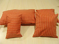 Комплект подушек  4шт терракот полоска, фото 1