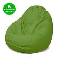 Мягкий пуфик груша зеленый большой XXL