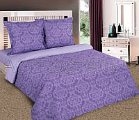 Полуторное постельное белье простыней на резинке 90/200/25 Византия фиолет, поплин 100%хлопок