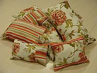 Комплект подушек  7шт цветы и полоска, фото 1