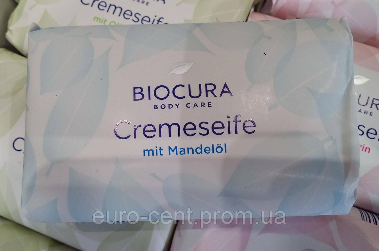Мыло кусковое с миндальным маслом Biocura Cremeseife mit Mandelol
