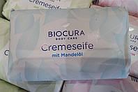 Мыло кусковое с миндальным маслом Biocura Cremeseife mit Mandelol, фото 1
