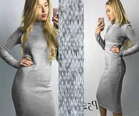 Платье-гольф из ангоры большого размера . Серый